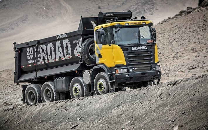 Scania G440, 8×4, dump truck, 4k, trucks, Scania