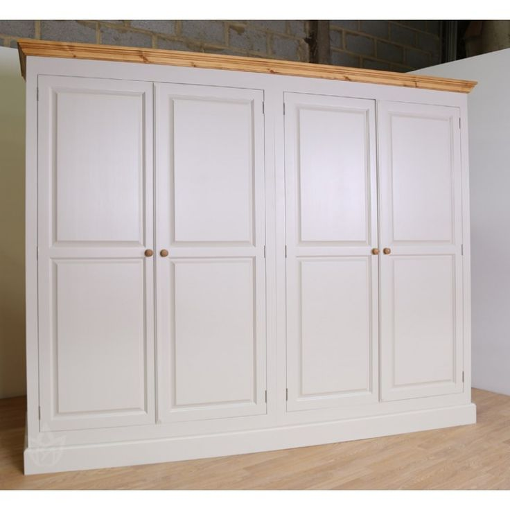 Solid Pine Construction Tongue and Groove Panels Bespoke Size and Designs Available  Can be Painted All Over or with Wax Contrast (as image) Ample Storage Space with Hanging Rail Raised and Fielded Fronts Choose from any of the 10 Farrow & Ball Colours Manufactured Here in the UK Examples From This Range Can be Viewed at our Showroom in Hertford Height 199cm  Depth 61cm