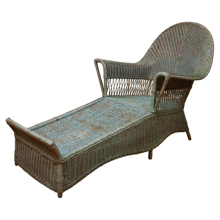 Antique Wicker Chaise  sc 1 st  Pinterest : antique wicker chaise lounge - Sectionals, Sofas & Couches