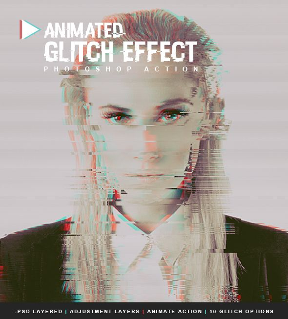 Animated Glitch Effect Photoshop Action