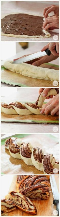 Easy To Make Baked Nutella Braided Bread
