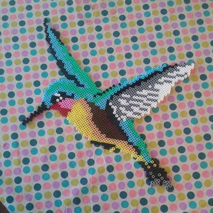 Hummingbird hama beads by missqta