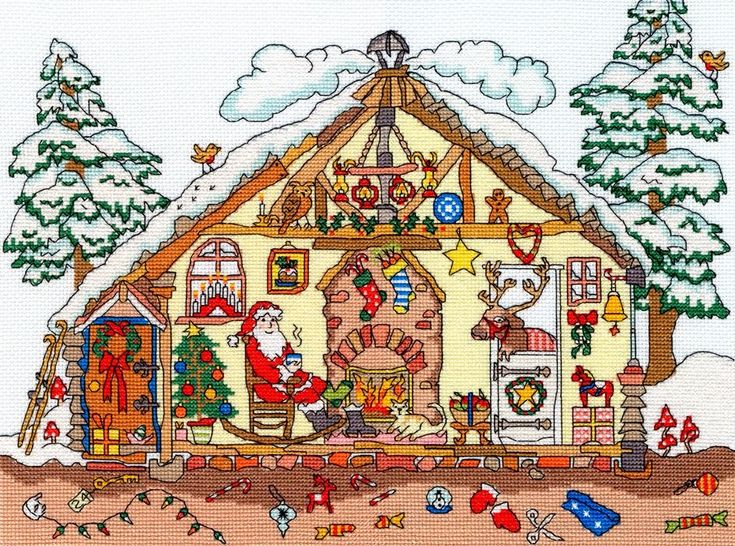 Christmas Bothy - Bothy Threads cross stitch kit, part of their popular Cut Thru' series of designs.