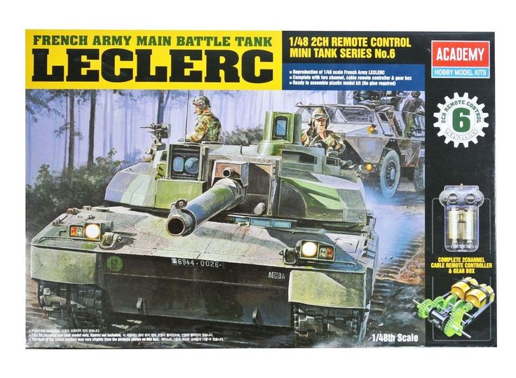 Academy Plastic Model Kit French Army Main Battle Tank LECLERC 1/48 Scale 13001 #Academy