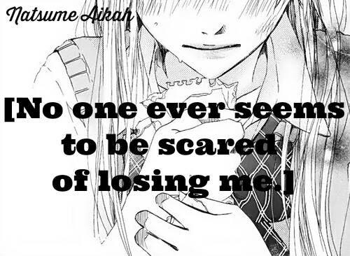 Hiçkimsenbeni kaybetmekten korkmuyor, duygularımı umursamıyor tek umursadıkları şey gücüm. Biliyor musun? Bu acıtıyor.