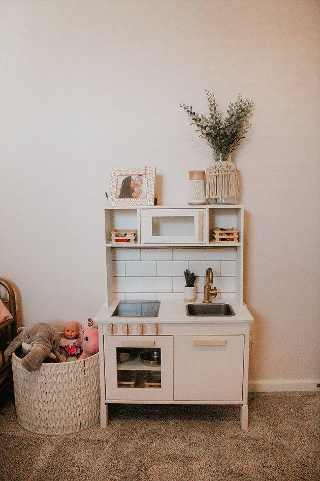 Toddler Girls Bedroom/ Playroom | Toddler Bedroom Girl, Ikea Toddler Room, Ikea Girls Bedroom