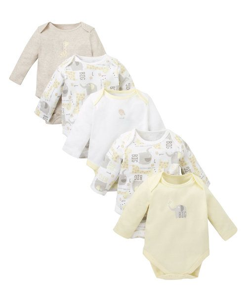 Giraffe Bodysuits - 5 Pack http://www.parentideal.co.uk/mothercare---baby-clothes.html
