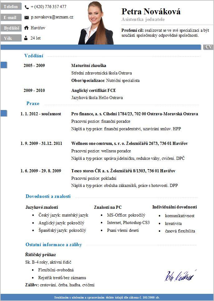 Pro-CV 6. vzor žena. Více informací zde http://www.pro-cv.cz/produkt/pro-cv-6-vzor-zena/