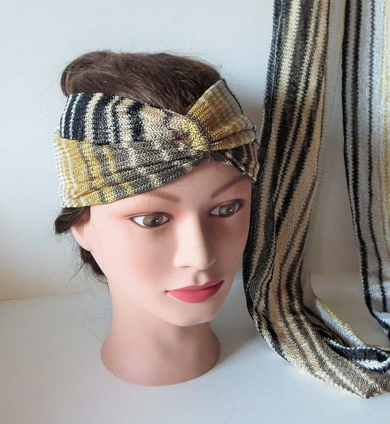 100 Missoni Head Wrap Infinity scarf Matching Set  by TiStephani, $56.00