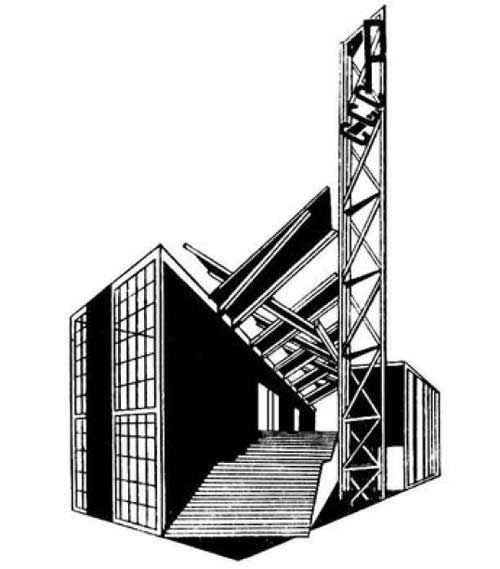 Paris, USSR pavillion. Architect Konstantin Melnikov, 1925.