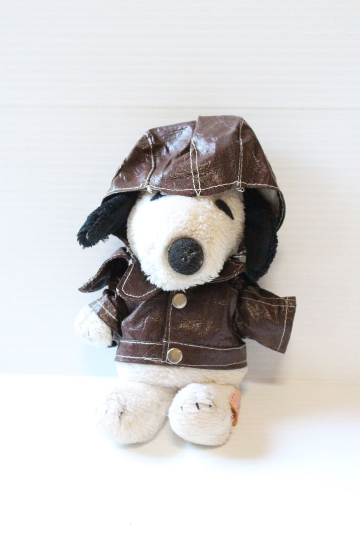 SNOOPY FLYING ACE, Peanuts plush, Vintage Peanuts Character, 1968 Snoopy stuffed animal,Vintage collectible,Stuffed Snoopy dog,toy for child by TheJellyJar on Etsy