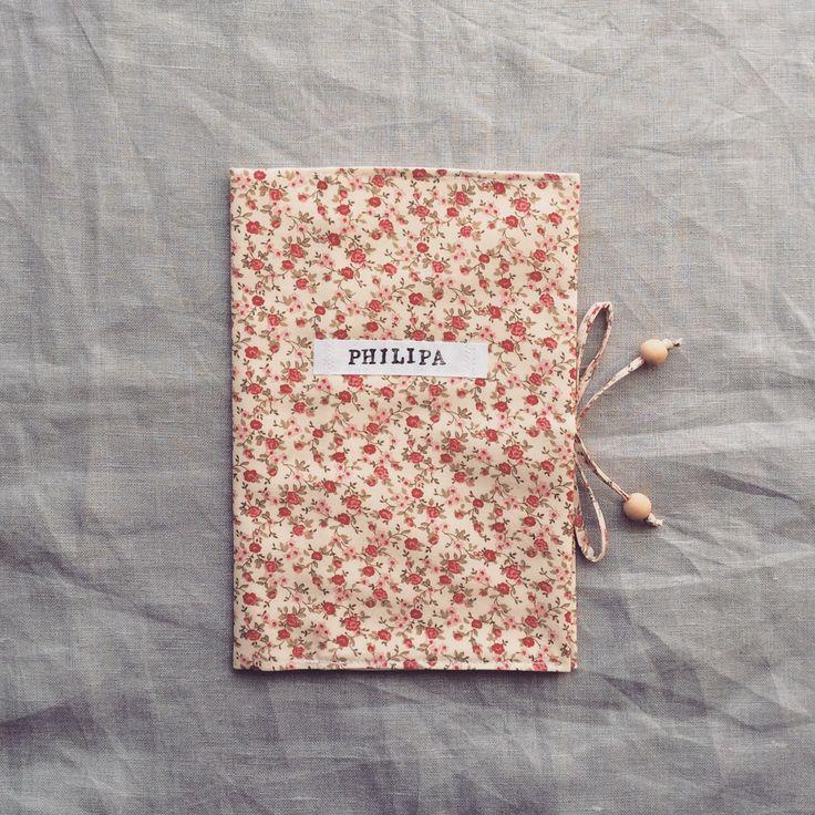 housse carnet de santé / health book cover