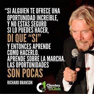 Grande Richard Branson!! • Respeto las personas que creen tener la razon, pero yo sigo a los que tienen los resultados!!  #education #money #business #forex