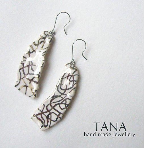 Tana šperky - keramika/platina, Ako pavučina....
