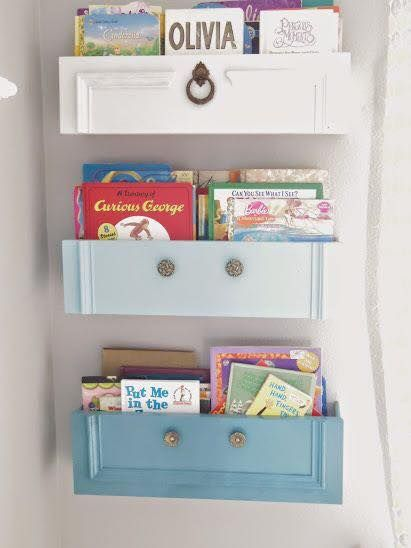 Up Cycle Old Drawers Into Shelves Bookshelves