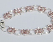 2-toned bracelet, inspired by Japanese chain maille techniques.