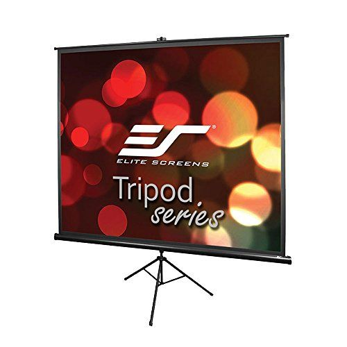Elite Screens Tripod, 120-inch, Adjustable Multi Aspect Ratio Portable Pull Up Projection Projector Screen, T120UWV1