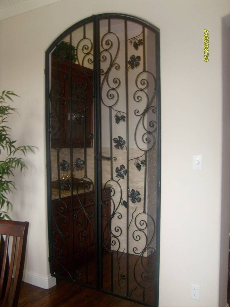 Indoor Iron Gate. Wish I Could Put This In My House Between The Back Room