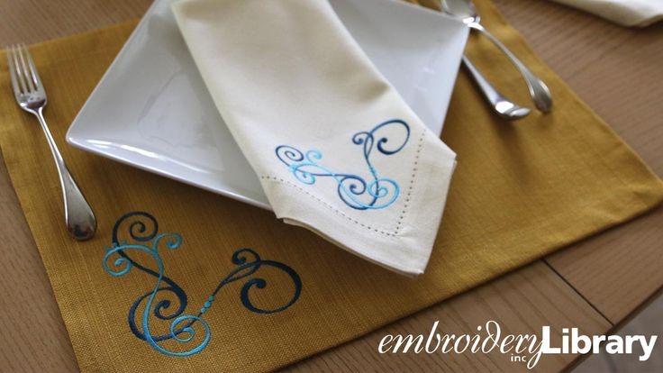 Corner designs are a creative way to add embroidery to pillows, napkins, and more! See our top ideas and tricks for working with corner designs in this video...