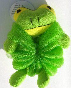 GREEN Frog Nylon Bath Sponge with Strap by Greenbrier. $7.99