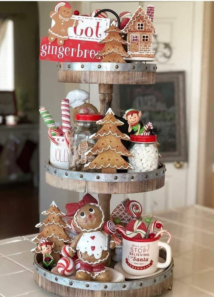 Pin By Debbie Miller On Christmas Tray Decor Christmas Gingerbread Christmas Decor Christmas Decorations Rustic