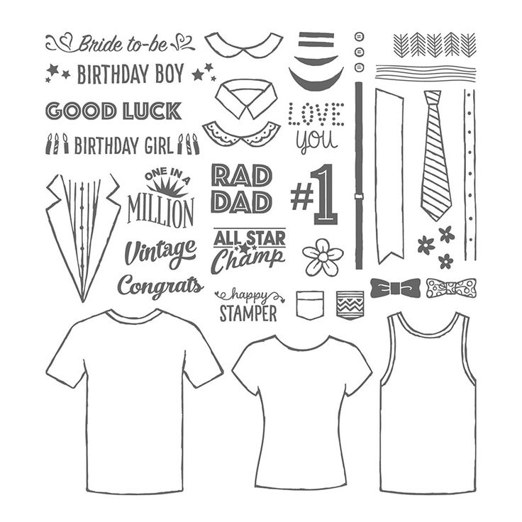 Custom Tee Photopolymer Stamp Set by Stampin' Up!
