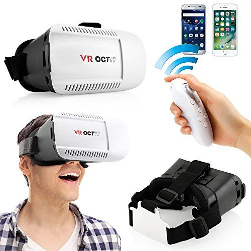 Oct17 3D Glasses VR Virtual Reality Headset Goggles Glasses Game Video with Bluetooth control remote For iPhone 6 Plus Android IOS Samsung HTC -- Check out this great product.Note:It is affiliate link to Amazon.