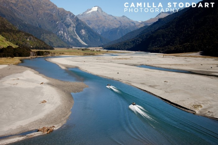 Jet boating, NZ - Awesome photo taken by Camilla of the Wilkin River Jet near Makarora - just one hour from Wanaka