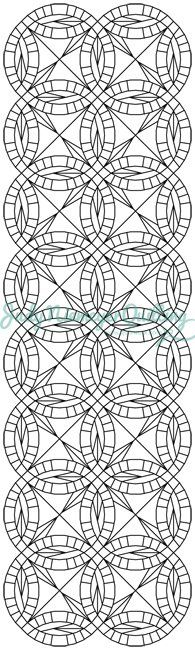 Bali Bed Runner Line Drawing, Quiltworx.com, Made by Quiltworx.com