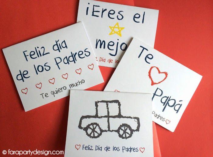 Fara Party Design: Imprimible Gratis- Tarjetas para Papá en español