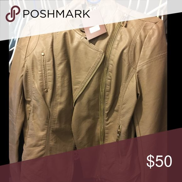 Women's bomber jacket NWT tan bomber jacket Jackets & Coats