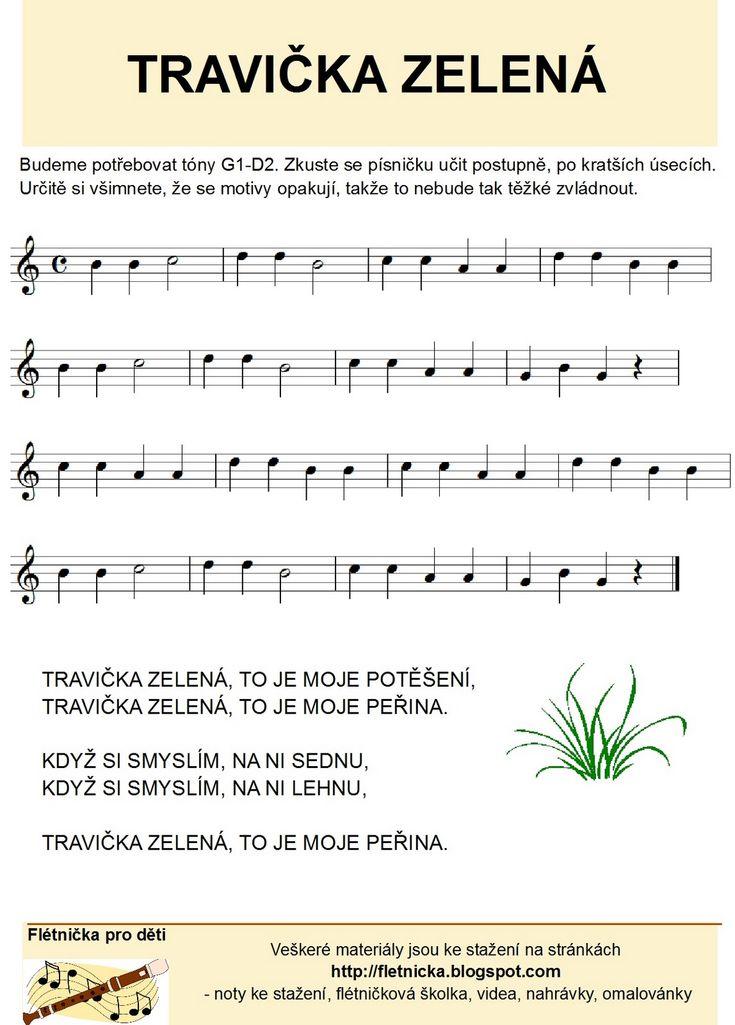 Flétnička: Travička zelená