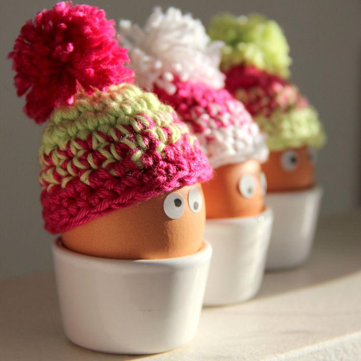 Huevos Con El perro del Bebé - huevo bobble Gorrita Tutorial ❥Teresa Restegui http://www.pinterest.com/teretegui/❥