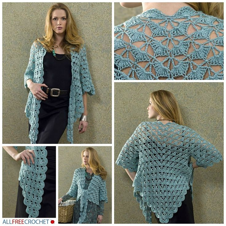Popular Zen Jacket   AllFreeCrochet.com