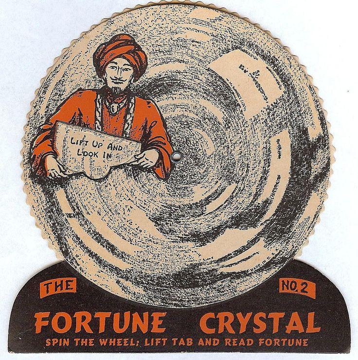 beistle usa 1948 vintage halloween fortune crystals game