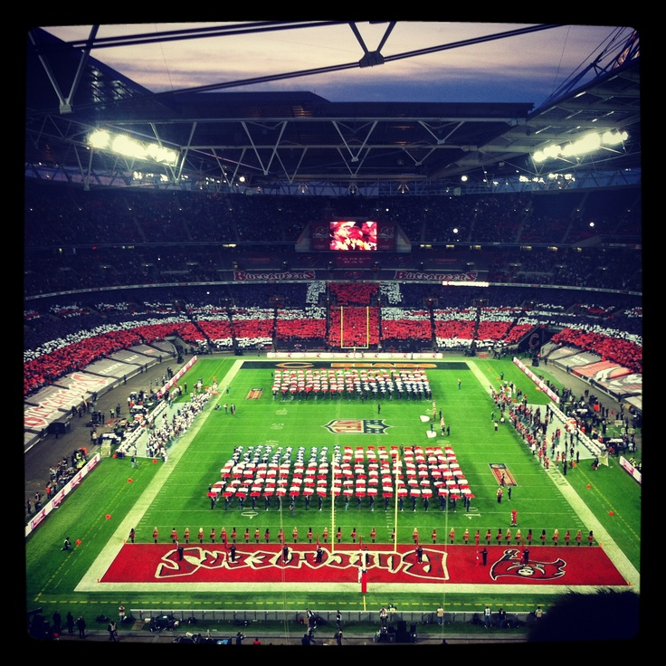Yes, I went to a football game on my honeymoon!!! NFL London Series 2012 - Bucs and Bears!