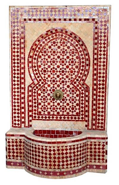 Cairo fountain in red