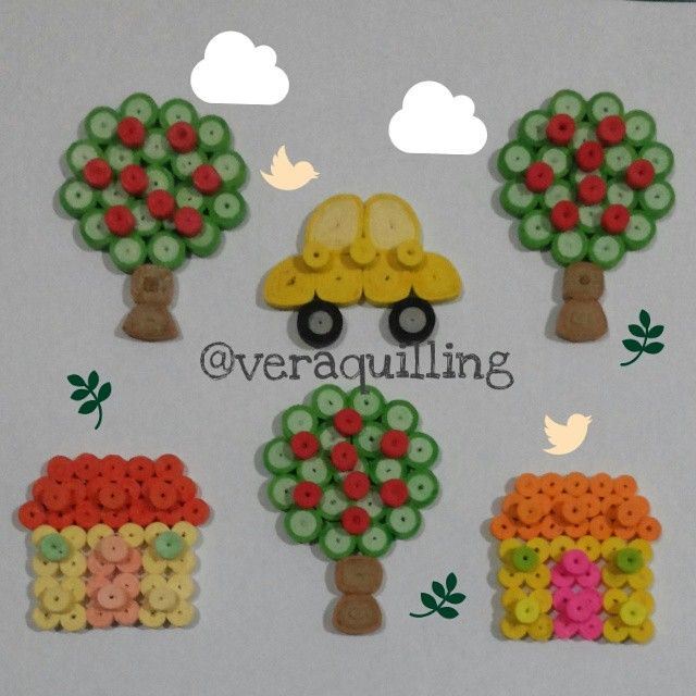 #paper #paperquilling #quilling #quillingtrees #quillinghouse #quillingcars #paperart #handmade #artandcraft