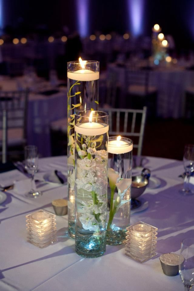 Wedding Centerpiece...with my flower color inside