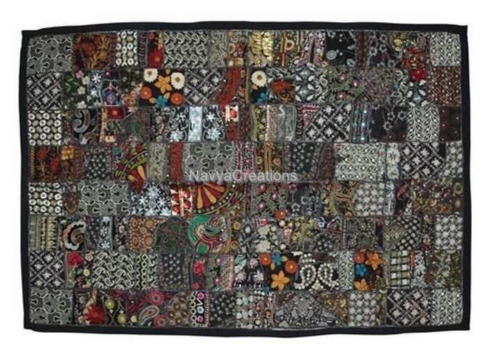 Ethnic Indian Handmade Cotton Patchwork Wall Hanging Decorative Tapestry Art #Handmade #Traditional