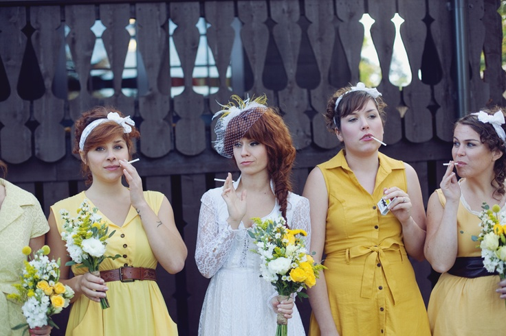 LOVE LOVE LOVE mad men style. Delightfully Tacky wedding :)