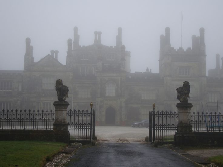 Gothic Mansion Surrounded By Fog S U R R E A L S E T T