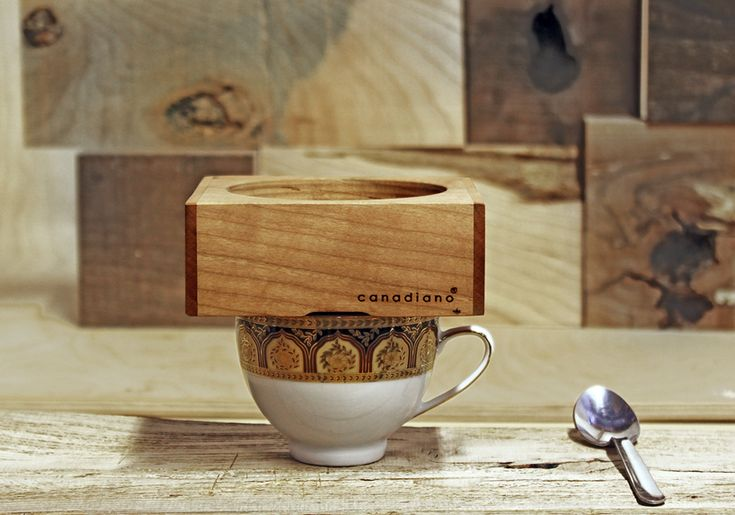 canadiano wooden coffee maker brews a cup at a time - designboom | architecture