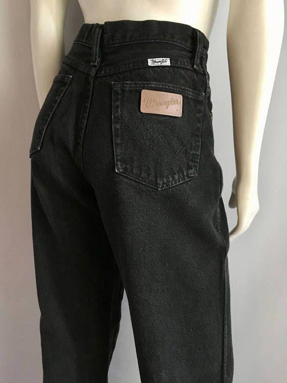 238b20badb Vintage Women s 80 s Wrangler Jeans Black High