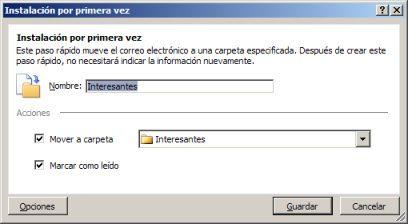 Instalar por primera vez de una cuenta de correo electrónico en Outlook 2013