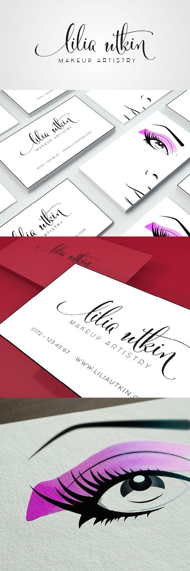 logo and business card makeup artist / styling / beauty Copyright Aileen Burkhardt / punze typografie