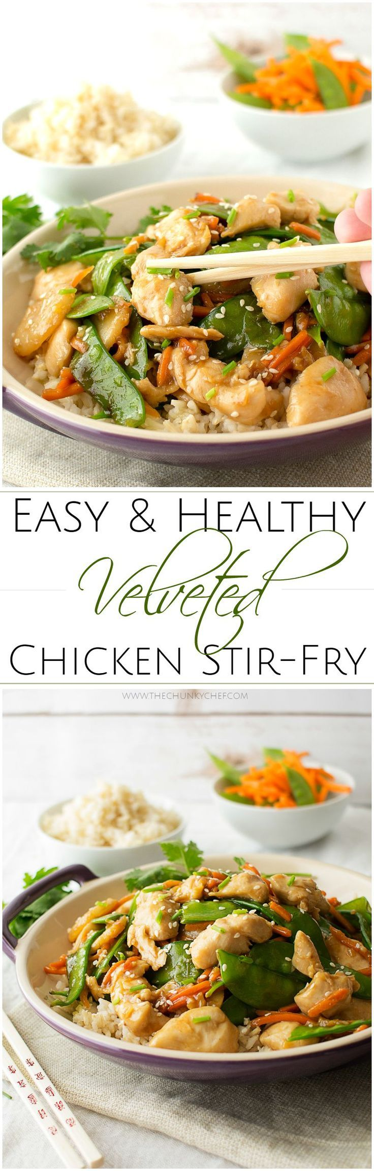 Easy Velveted Chicken Stir Fry | Recipe | Healthy chicken stir fry ...