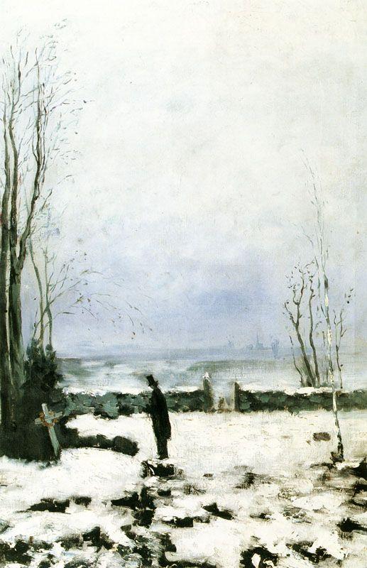 The Cemetery (Kyrkogården) - Carl Fredrik Hill