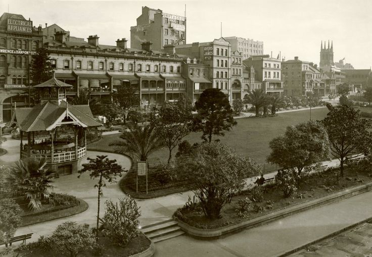 Wynyard Park, Sydney 1920 | View of Wynyard Park in Sydney D… | Flickr