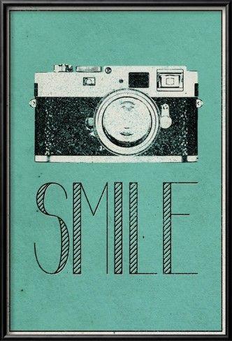 Sorria - pôster vintage